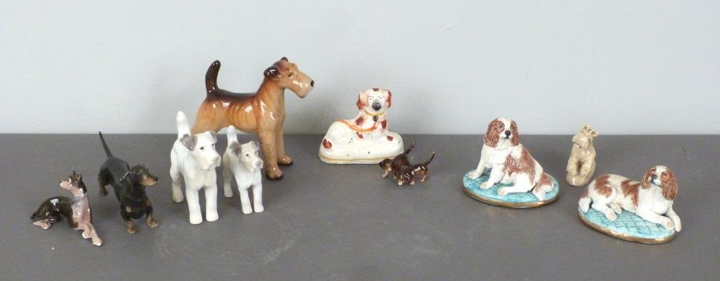 Assorted Porcelain Dogs