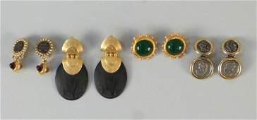 4 Pair Costume Jewelry Earrings