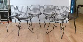 Set of 6 Harry Bertoia for Knoll Side Chairs