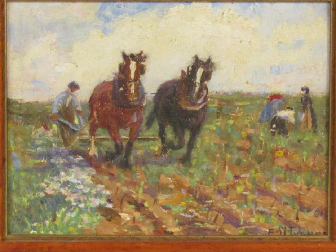 Signed F. M. Turner - Oil on Board