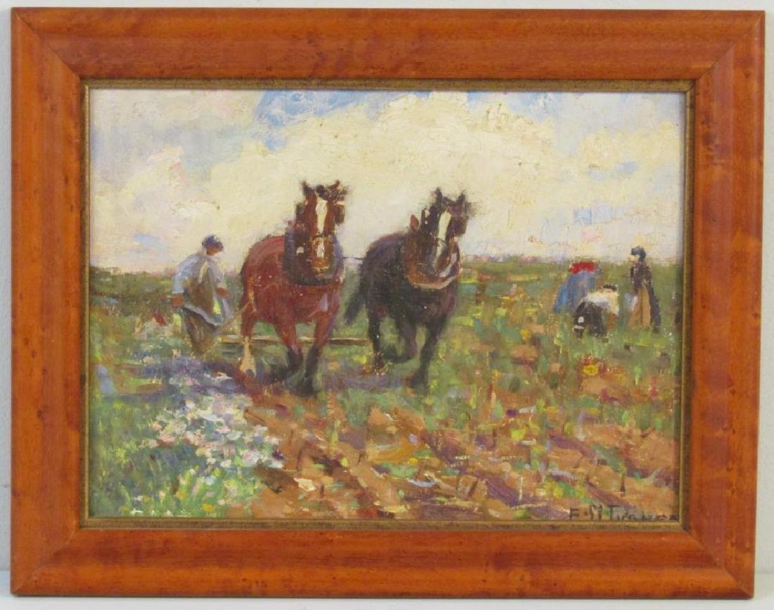 Signed F. M. Turner - Oil on Board - 2