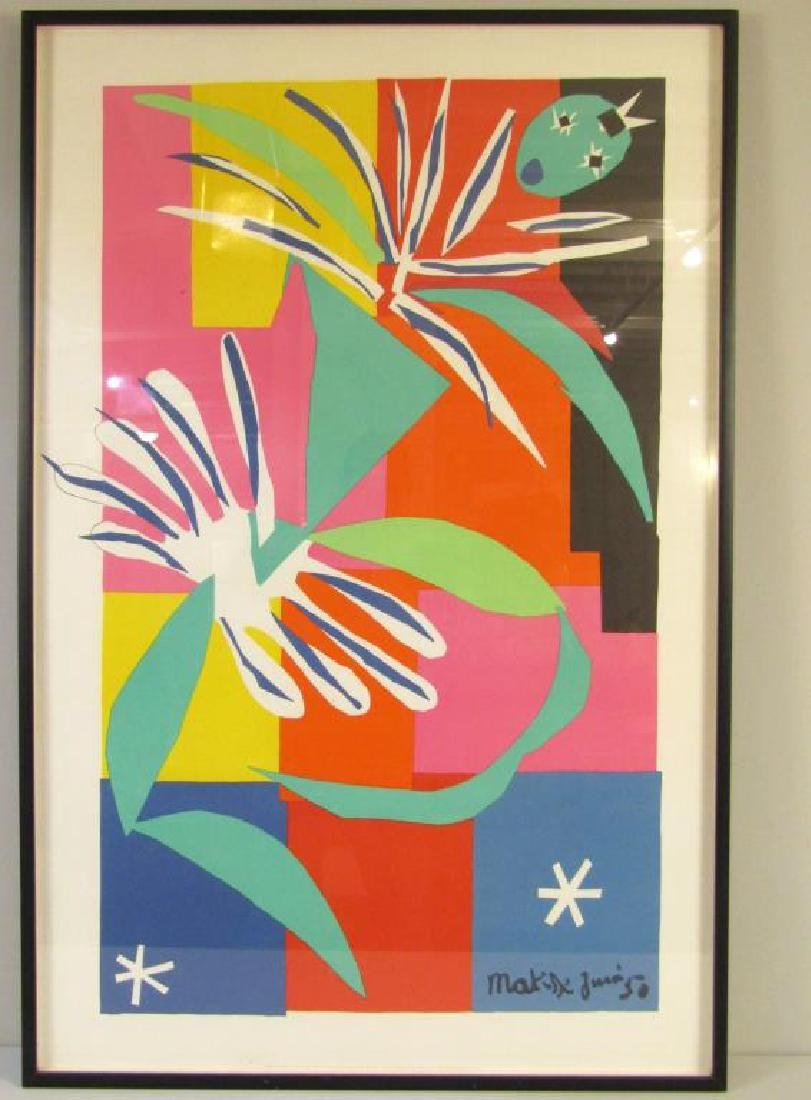 Large Henri Matisse French Offset Poster