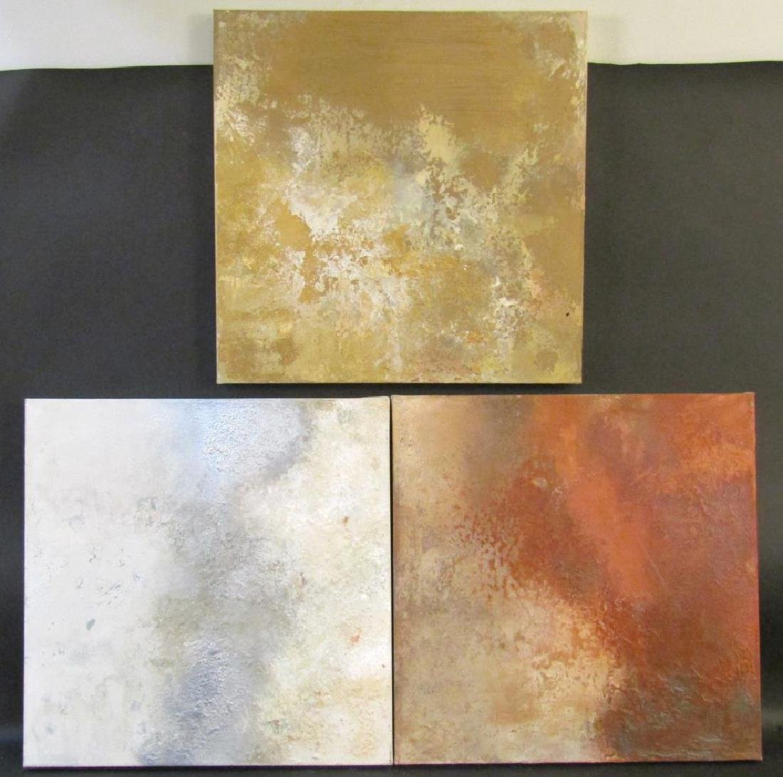 Series of 3 Modern Abstract Paintings