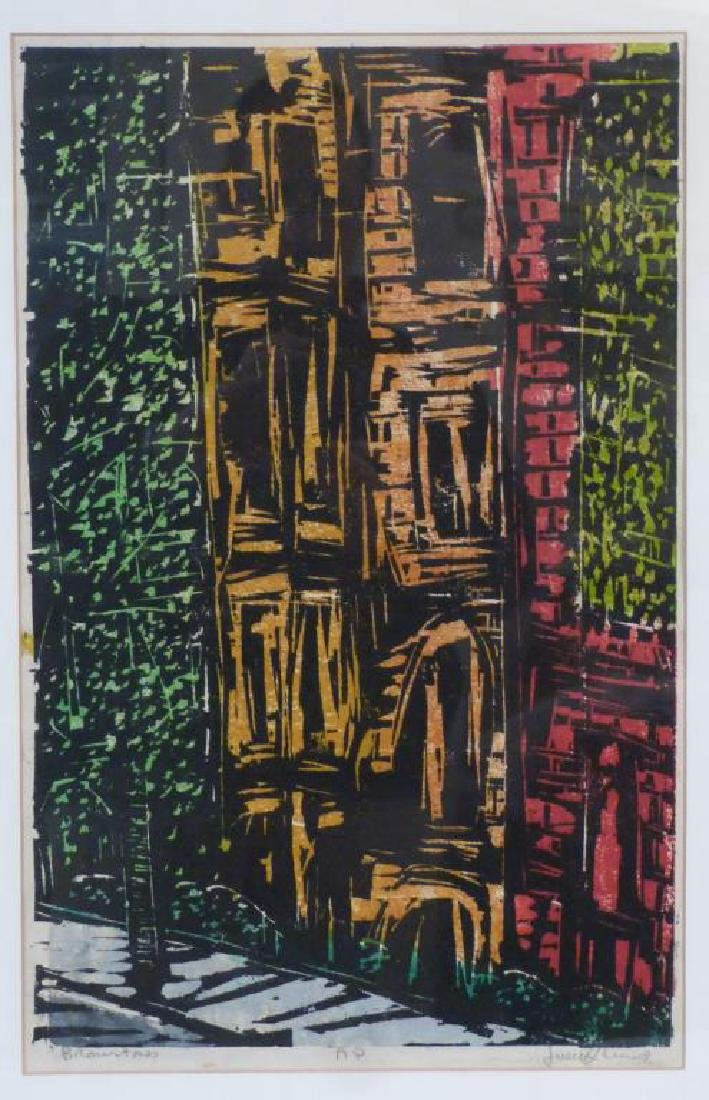 Signed Illegibly - Color Woodblock