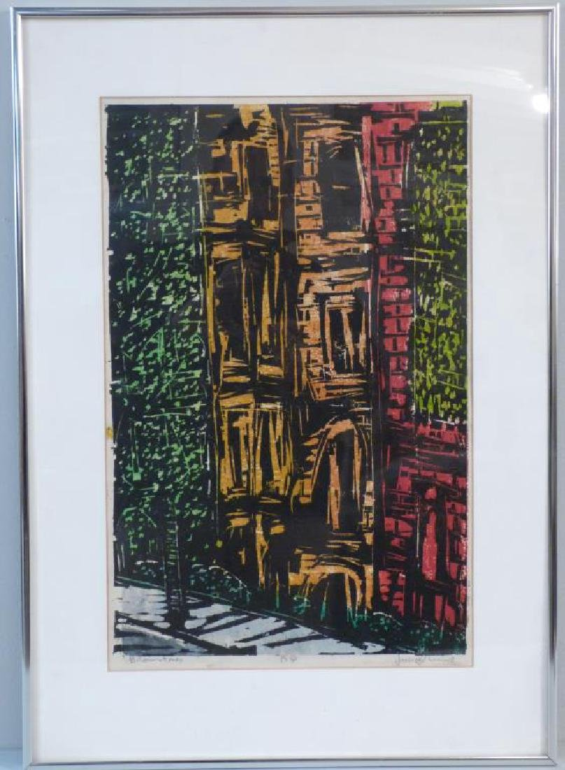 Signed Illegibly - Color Woodblock - 2