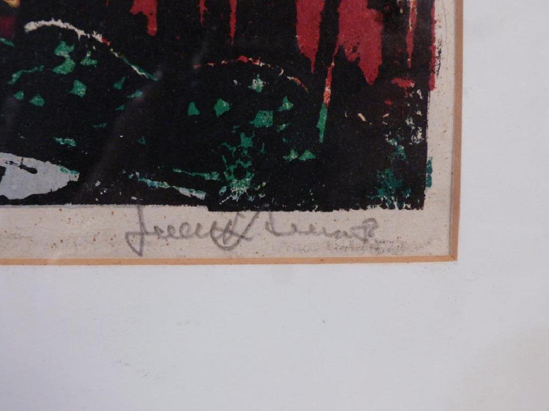 Signed Illegibly - Color Woodblock - 3
