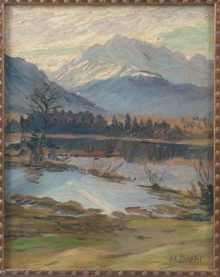 Hanns Diehl (1877 - 1946) - Oil on Board