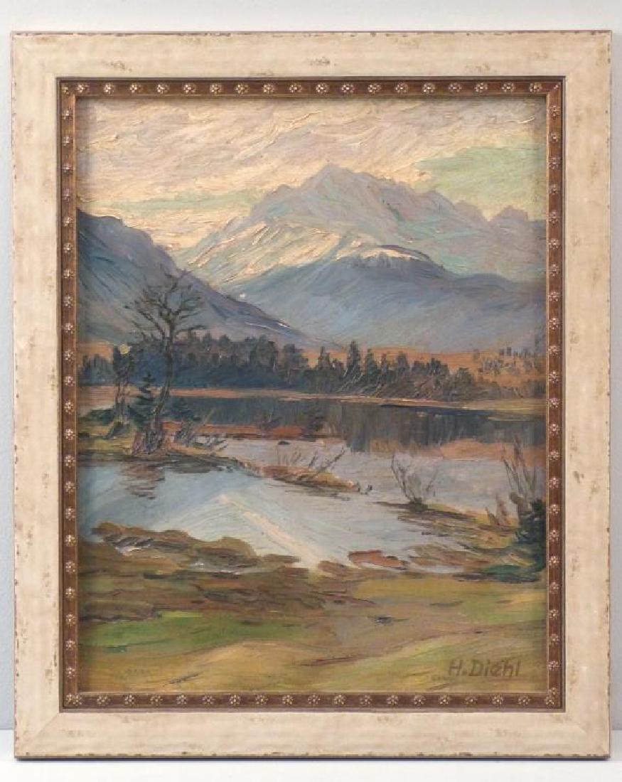 Hanns Diehl (1877 - 1946) - Oil on Board - 2