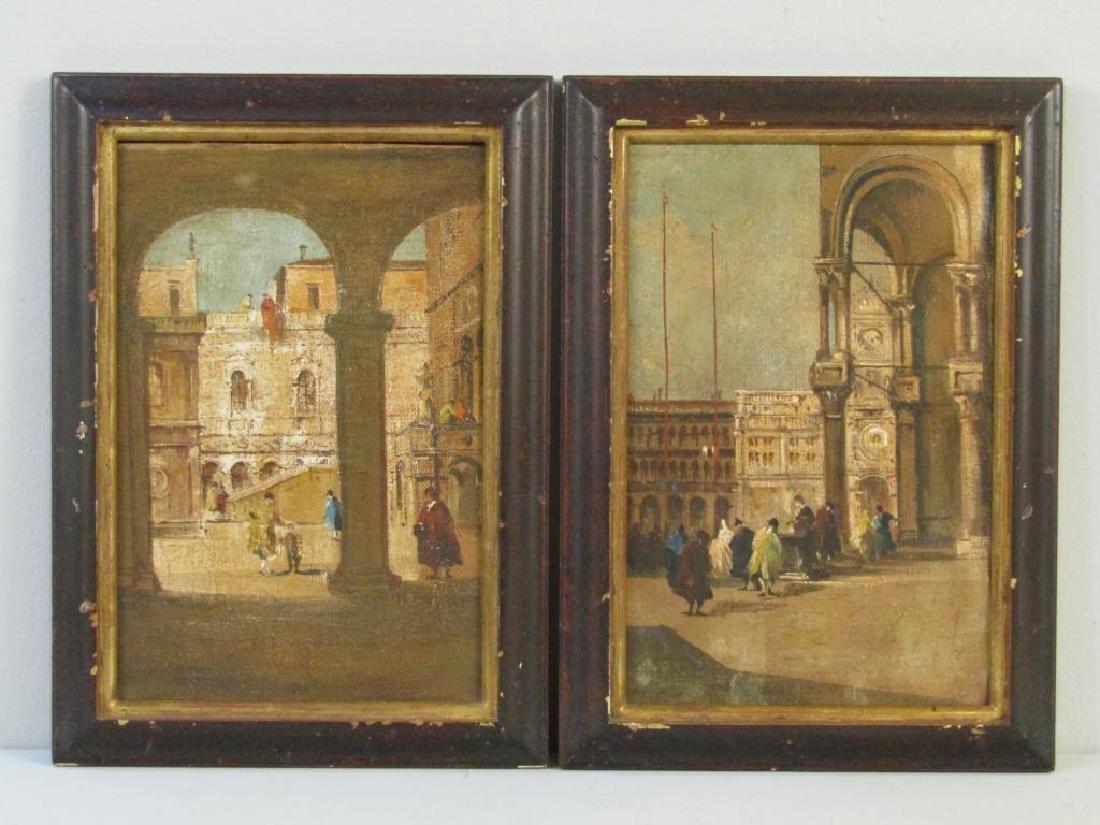 2 Italian School Oils on Canvas