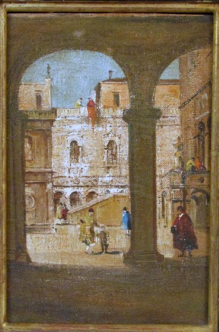 2 Italian School Oils on Canvas - 2