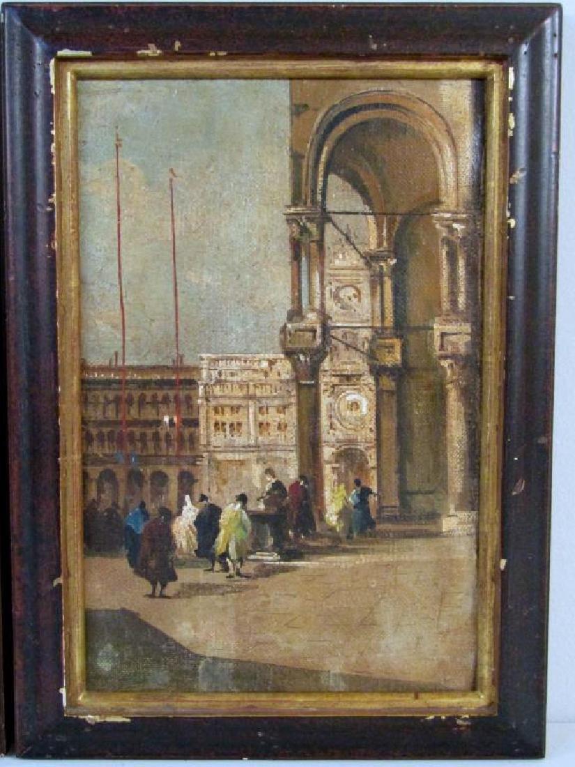 2 Italian School Oils on Canvas - 3