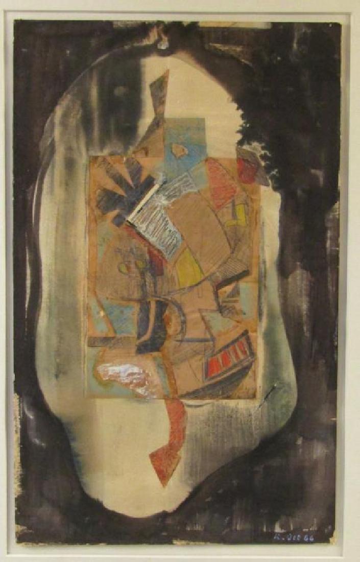 Richard Ott (American, 1935)- Mixed Media on Paper
