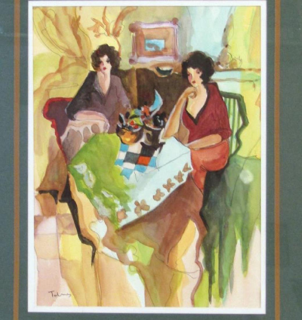 Itzchak Tarkay (1935-2012) - Watercolor on Paper
