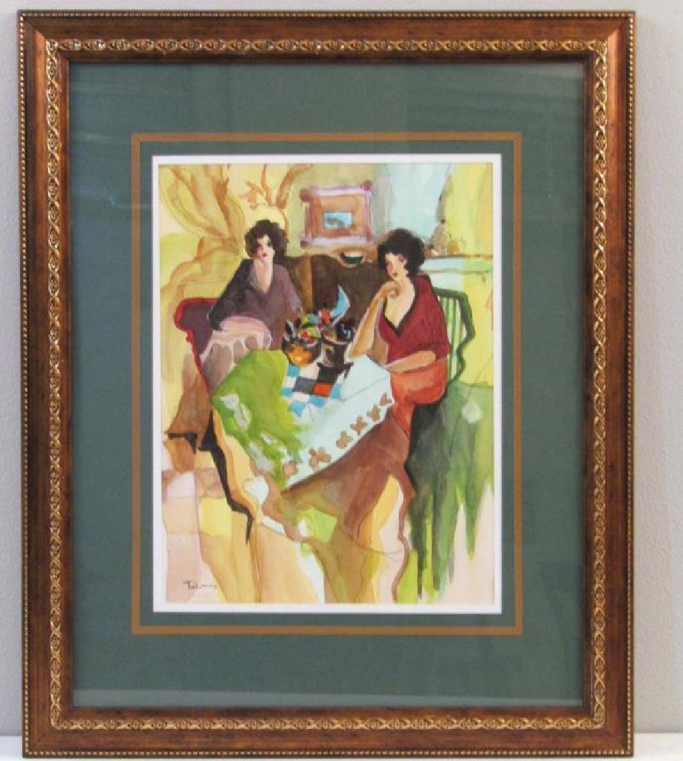 Itzchak Tarkay (1935-2012) - Watercolor on Paper - 2