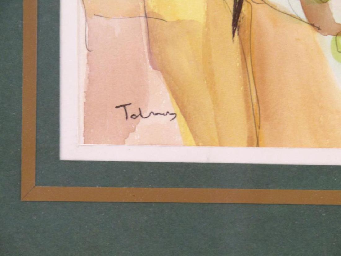 Itzchak Tarkay (1935-2012) - Watercolor on Paper - 4
