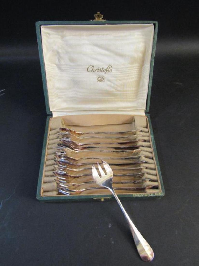 Set of 12 Christofle Scoop Forks