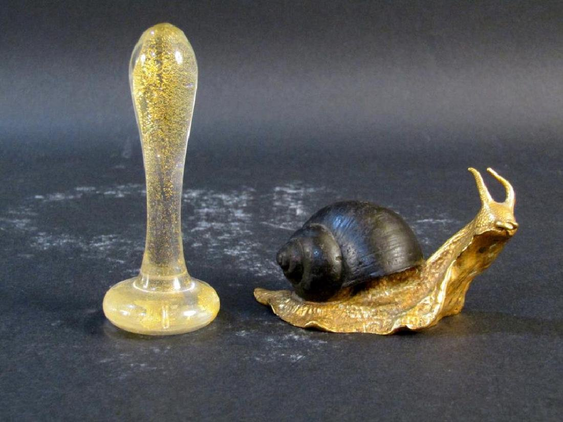 P.E. Guerin Snail and Venetian Glass Decoration
