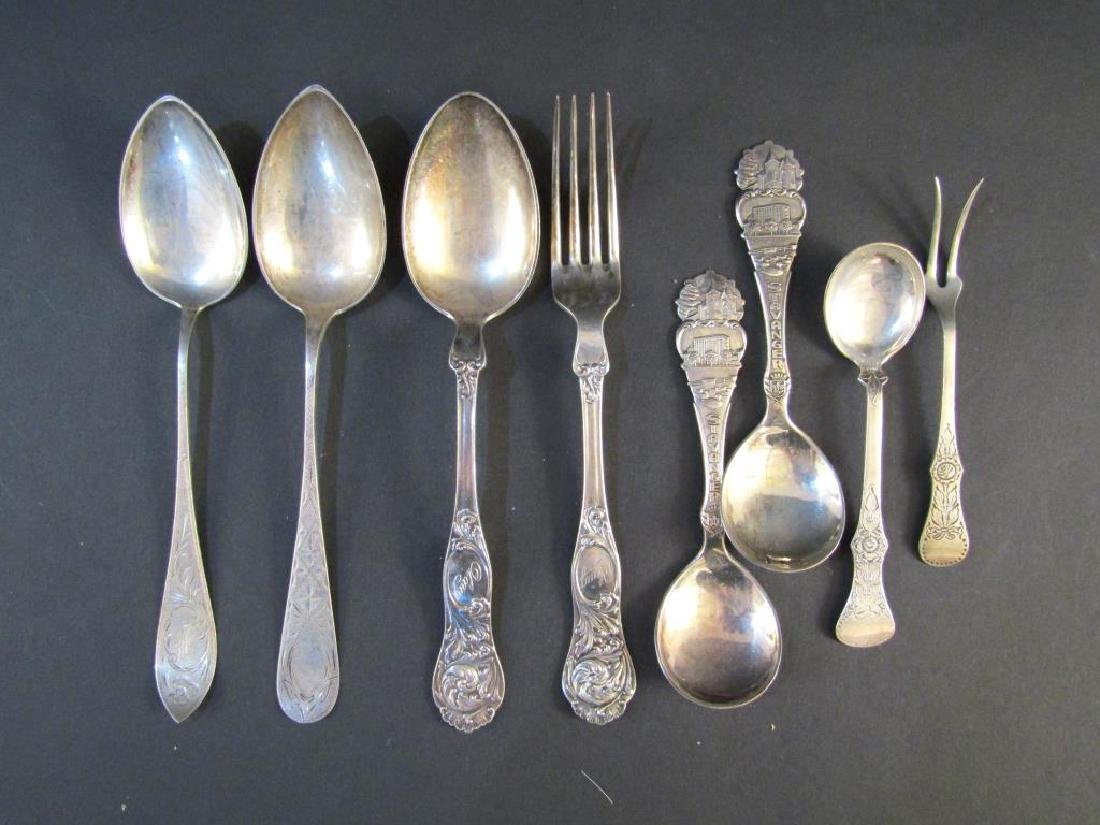 8 Continental Silver Forks and Spoons