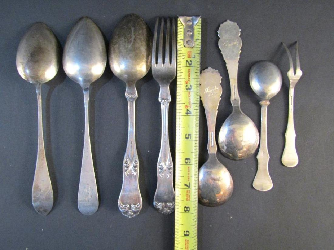8 Continental Silver Forks and Spoons - 2