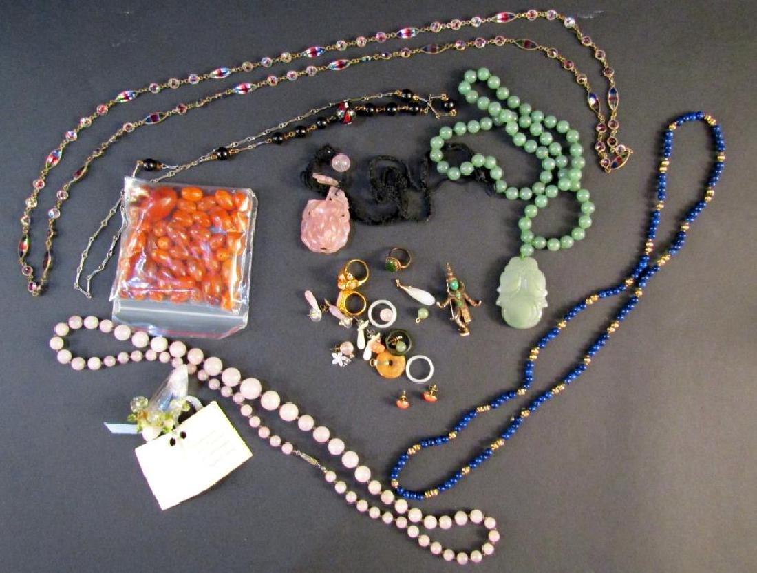 Assorted Hardstone and Costume Jewelry