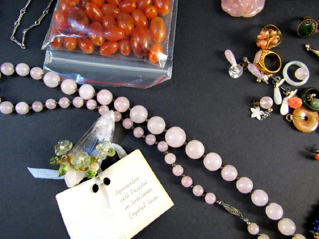 Assorted Hardstone and Costume Jewelry - 2