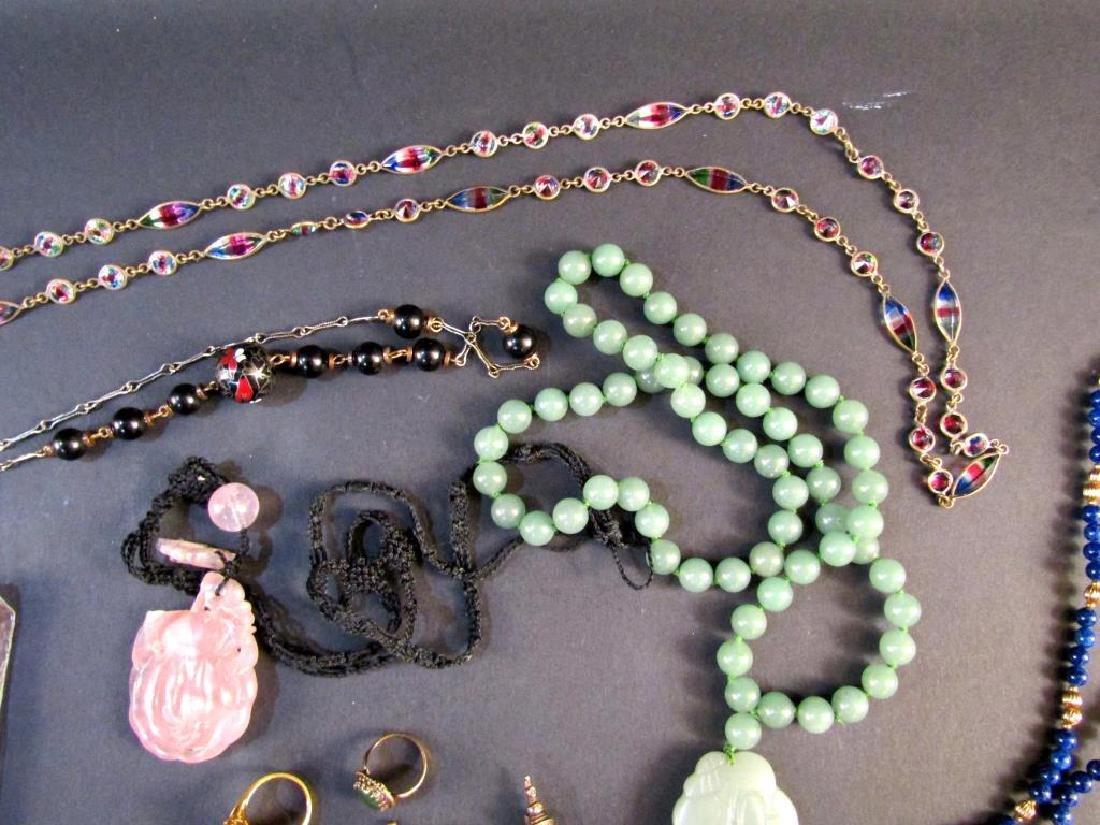 Assorted Hardstone and Costume Jewelry - 3