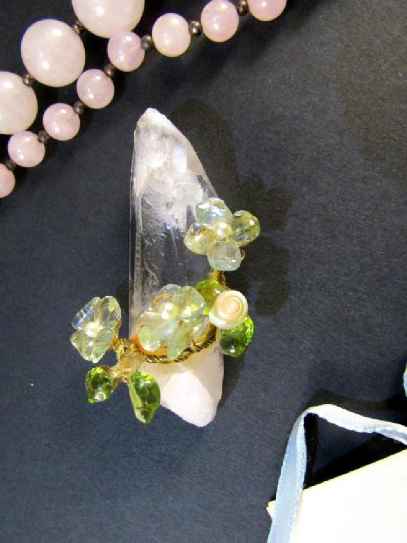 Assorted Hardstone and Costume Jewelry - 5