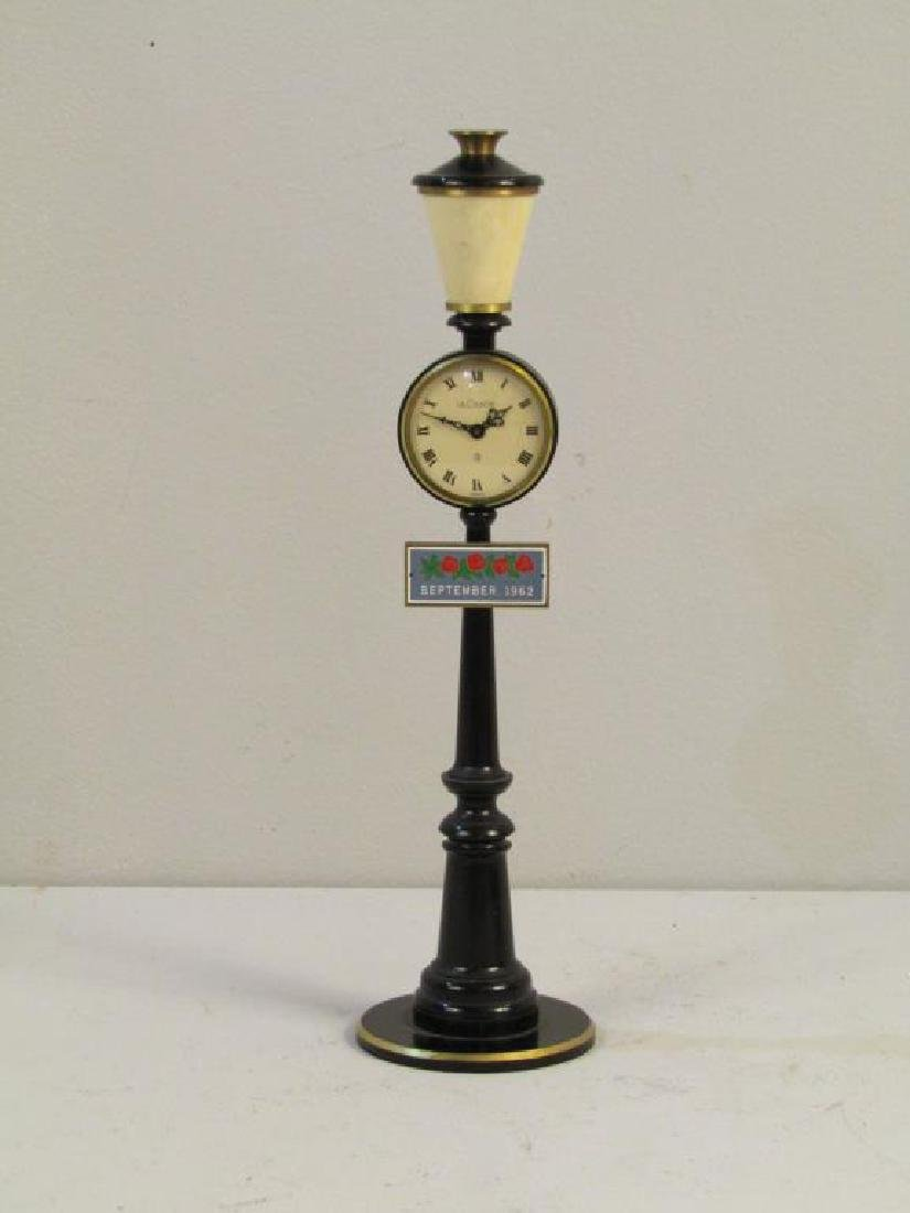 Le Coultre Miniature Lamppost Clock