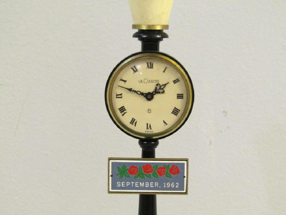 Le Coultre Miniature Lamppost Clock - 2