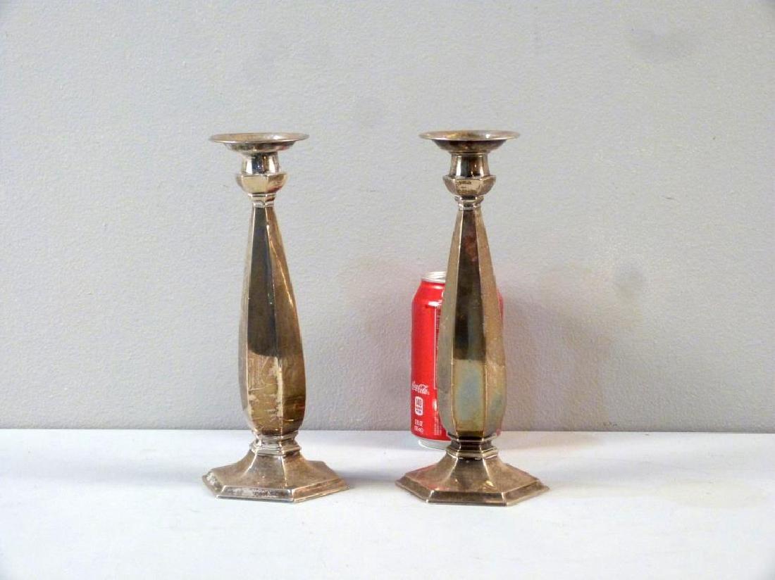 Pair Mid Century Sterling Candlesticks - 2