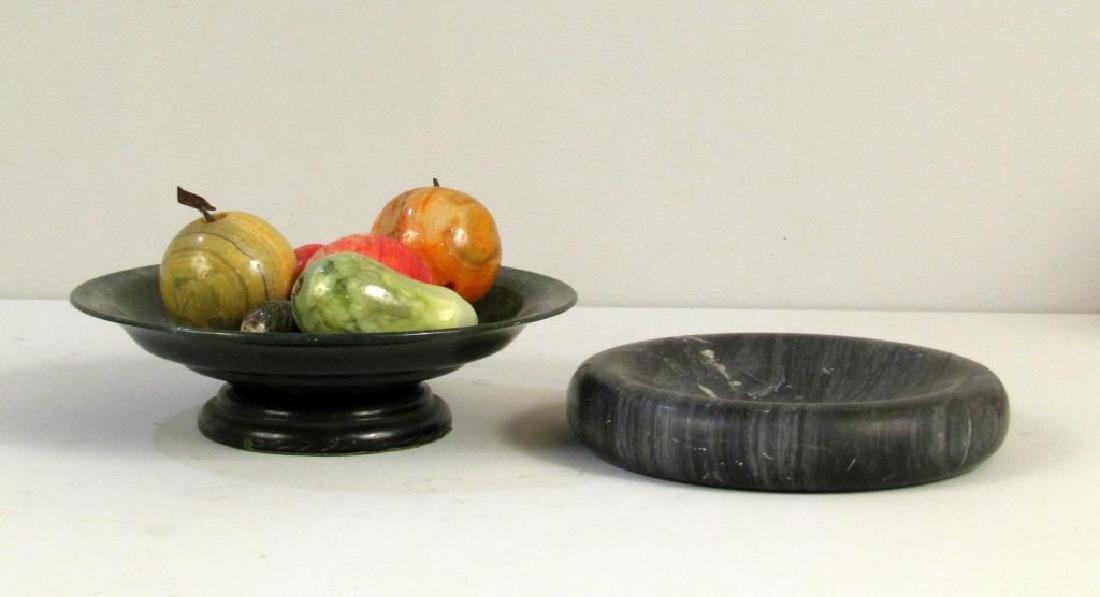 Decorative Marble Fruit, Bowl and Ashtray