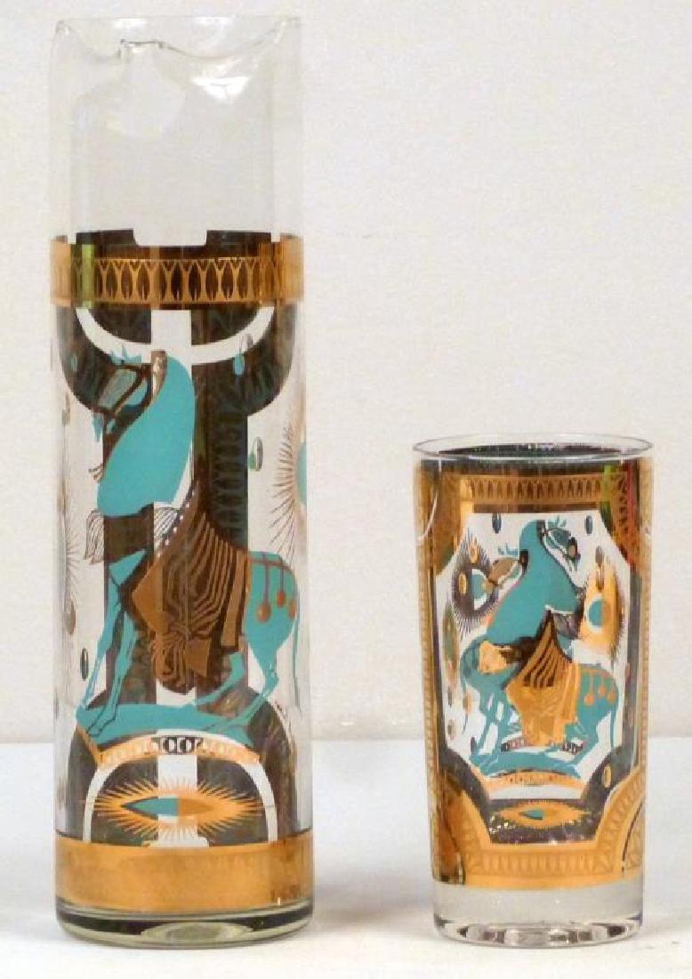 Fred Press Art Deco Style 6 Piece Highball Set - 3