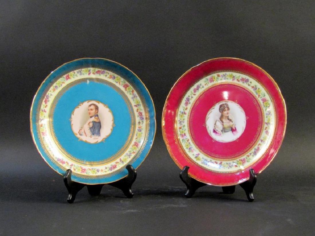 Pair Nymphenburg Porcelain Place Plates