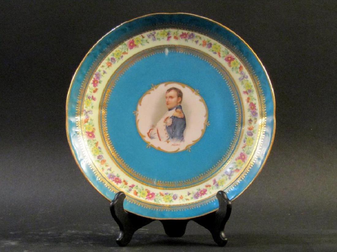 Pair Nymphenburg Porcelain Place Plates - 3