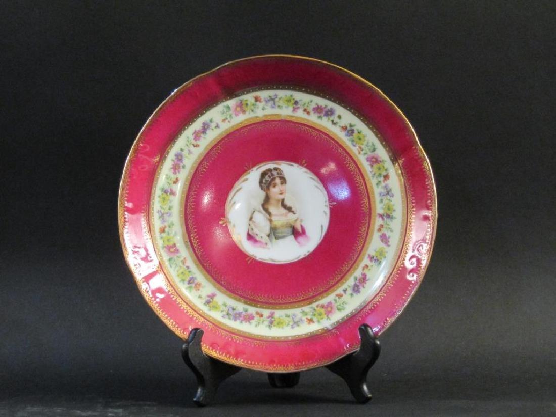 Pair Nymphenburg Porcelain Place Plates - 5
