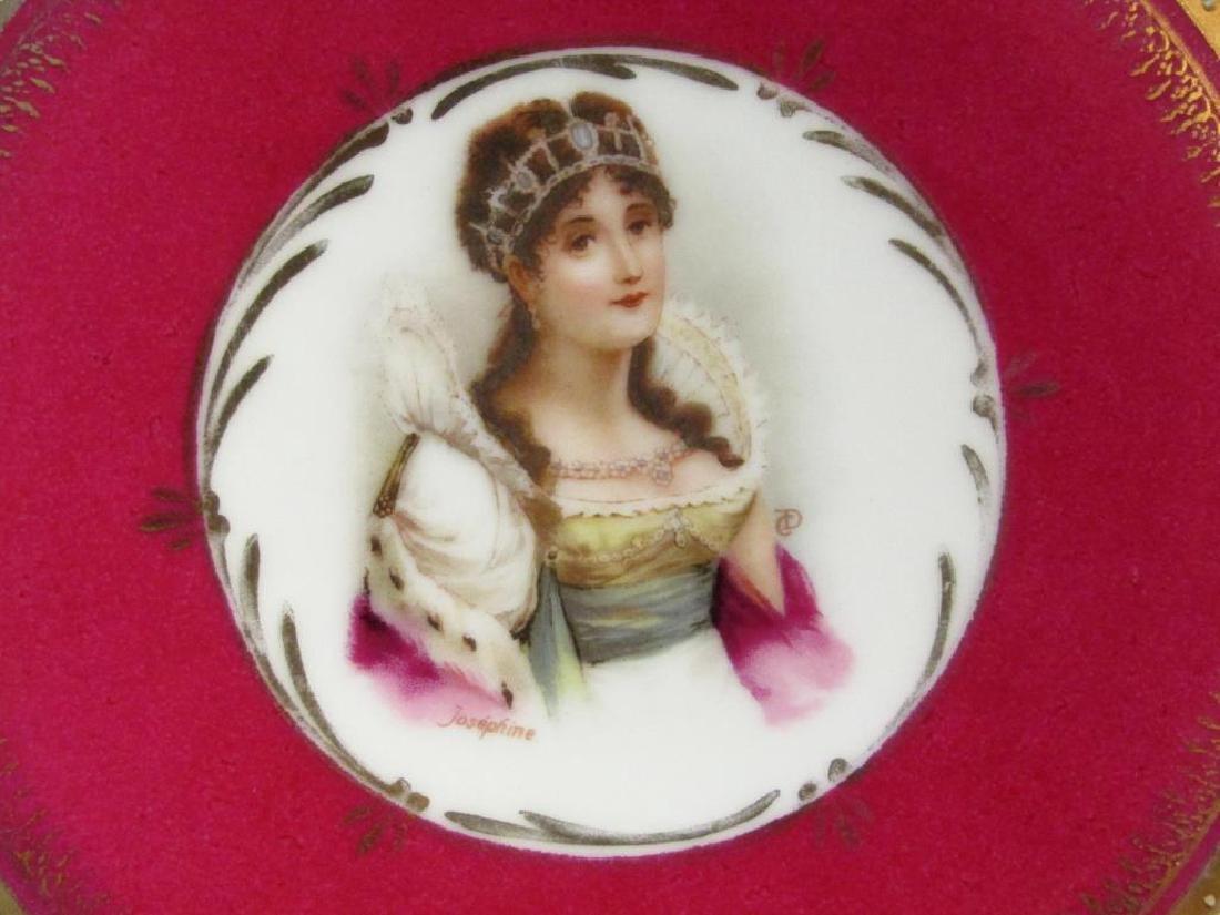 Pair Nymphenburg Porcelain Place Plates - 6