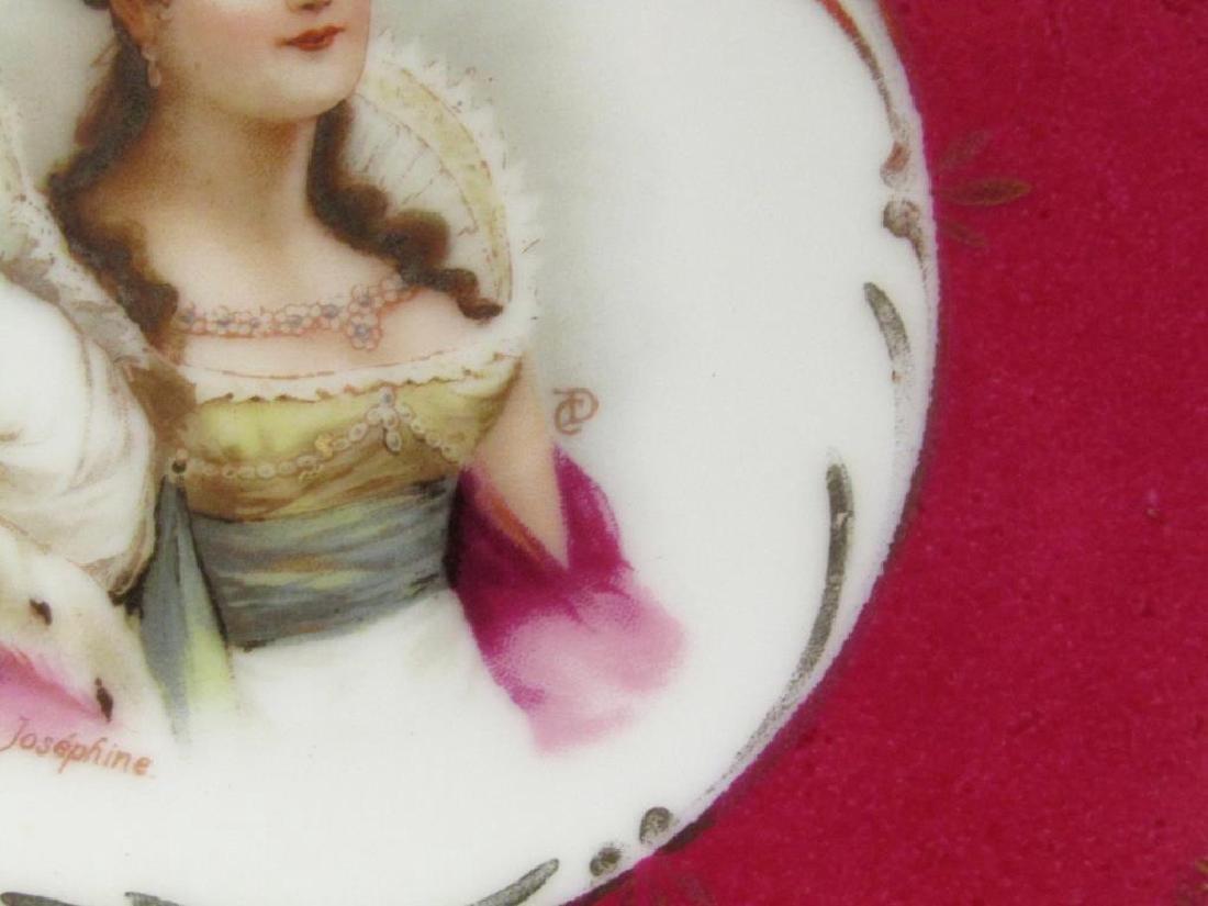 Pair Nymphenburg Porcelain Place Plates - 7