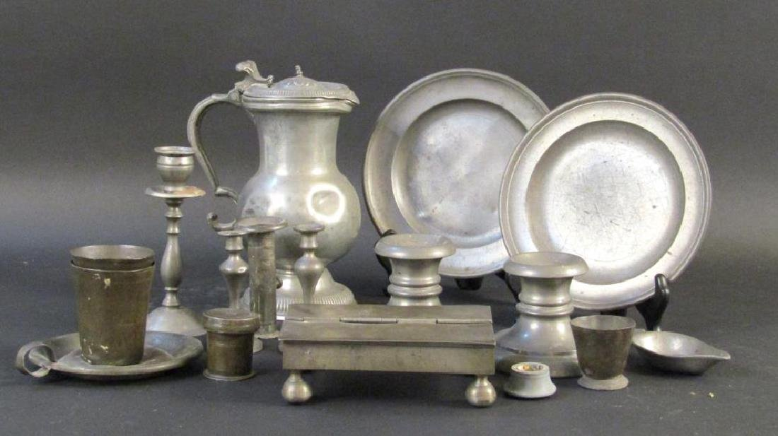 Assorted Pewter and Other Metal Articles