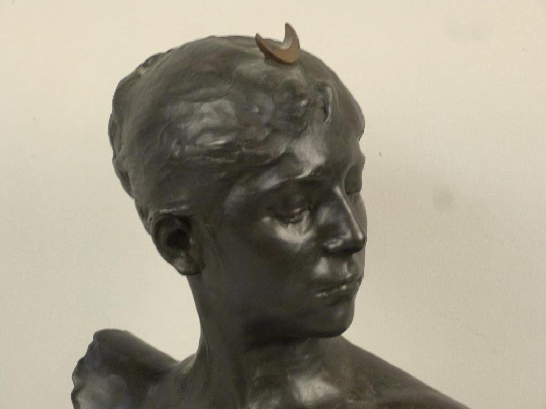 A. Falquiere - Bronze Bust of Diana - 2