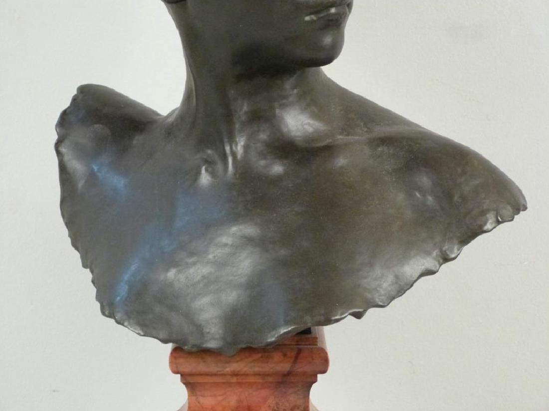 A. Falquiere - Bronze Bust of Diana - 3