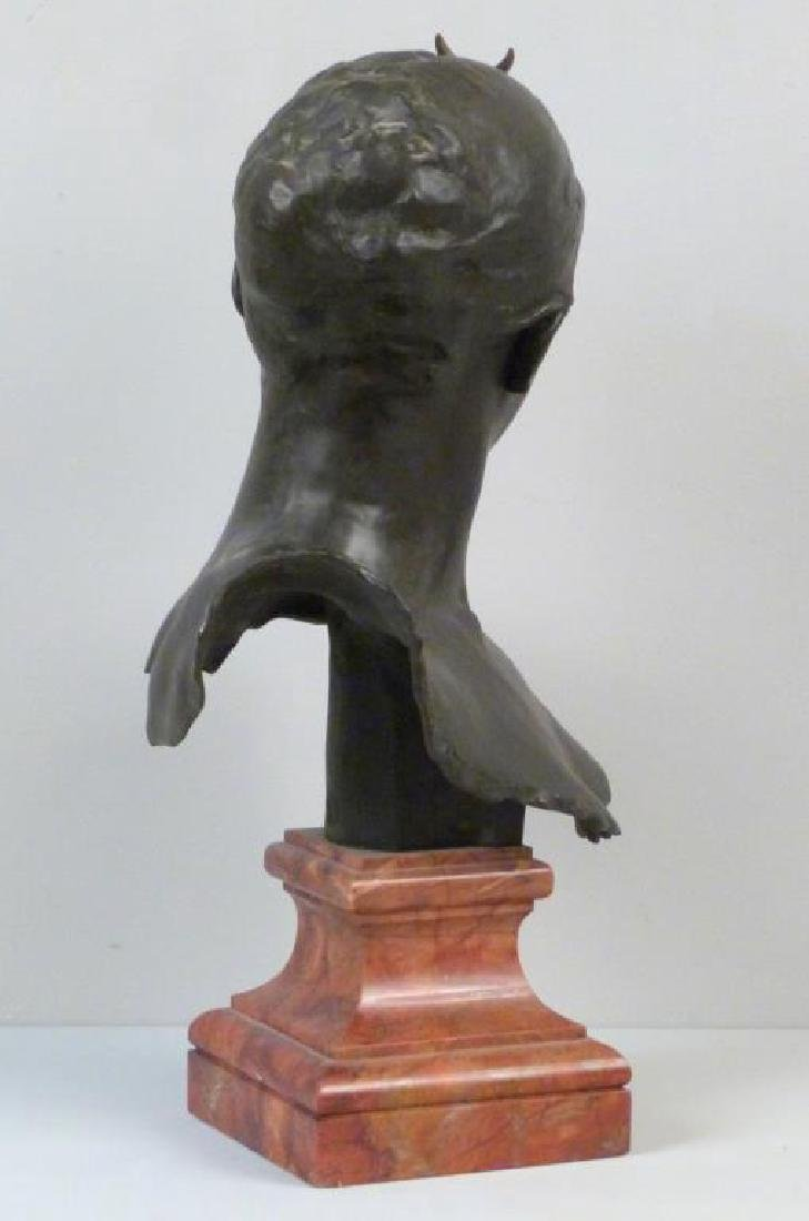 A. Falquiere - Bronze Bust of Diana - 4