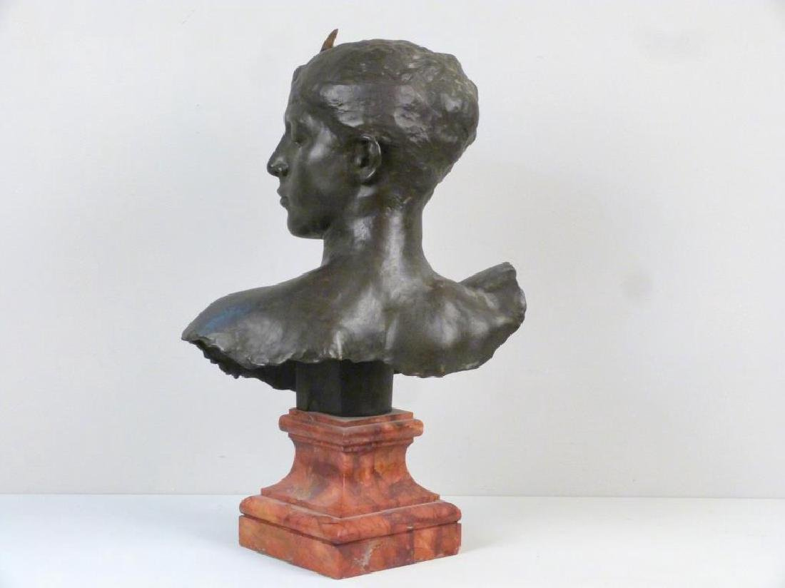 A. Falquiere - Bronze Bust of Diana - 5
