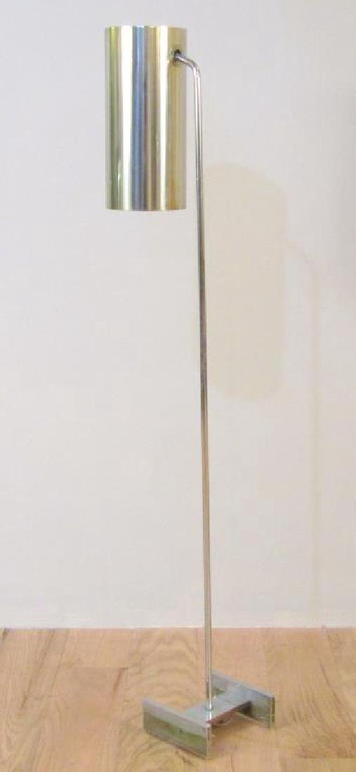 Modern Chrome and Metal Floor Lamp - 2