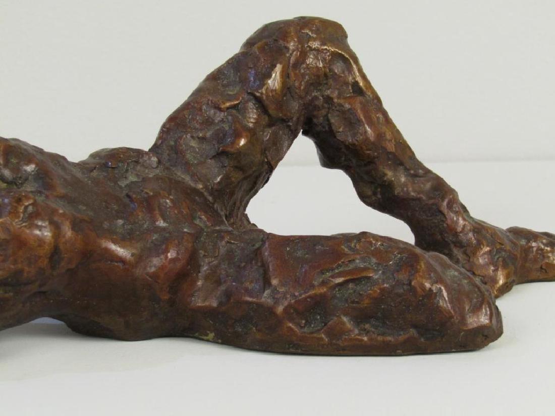 Abstract Figural Bronze Sculpture - 3