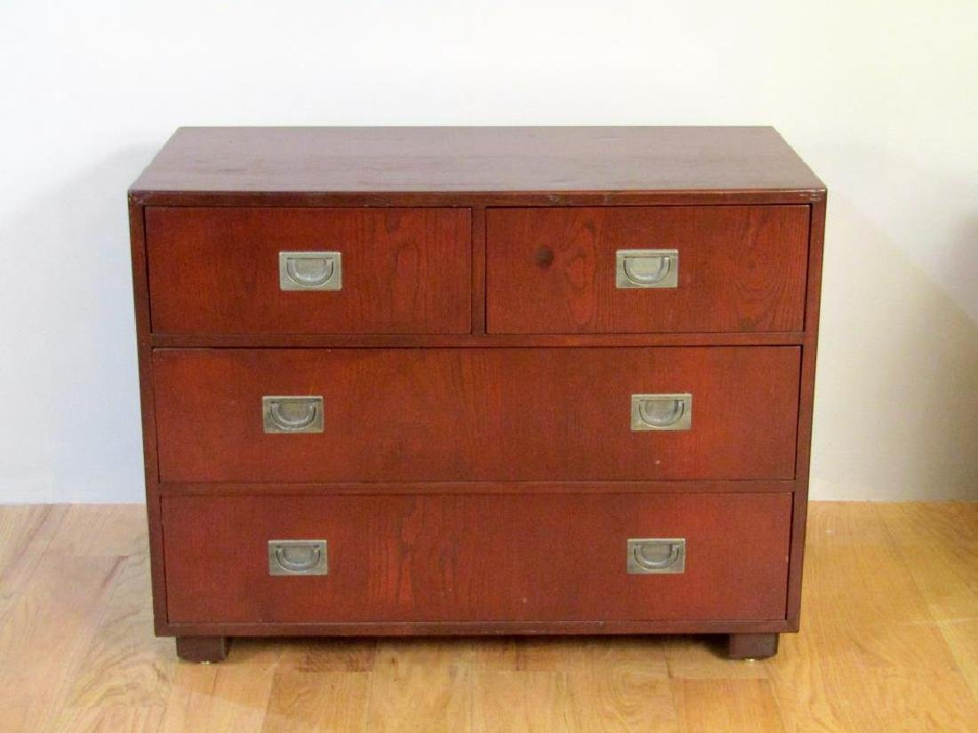 Pair Campaign Style Chests of Drawers - 3