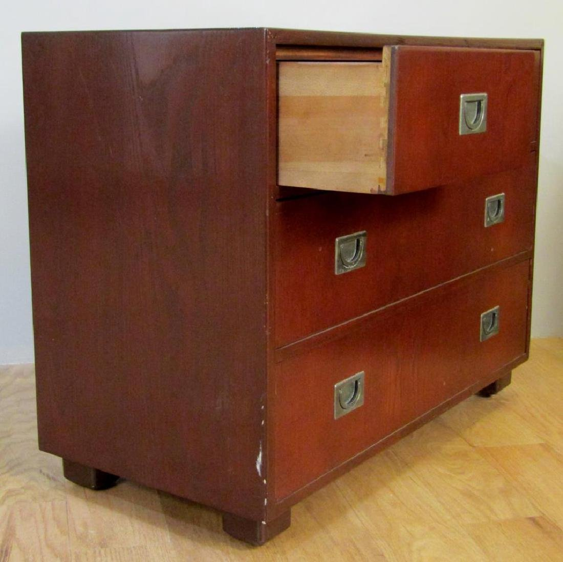 Pair Campaign Style Chests of Drawers - 4
