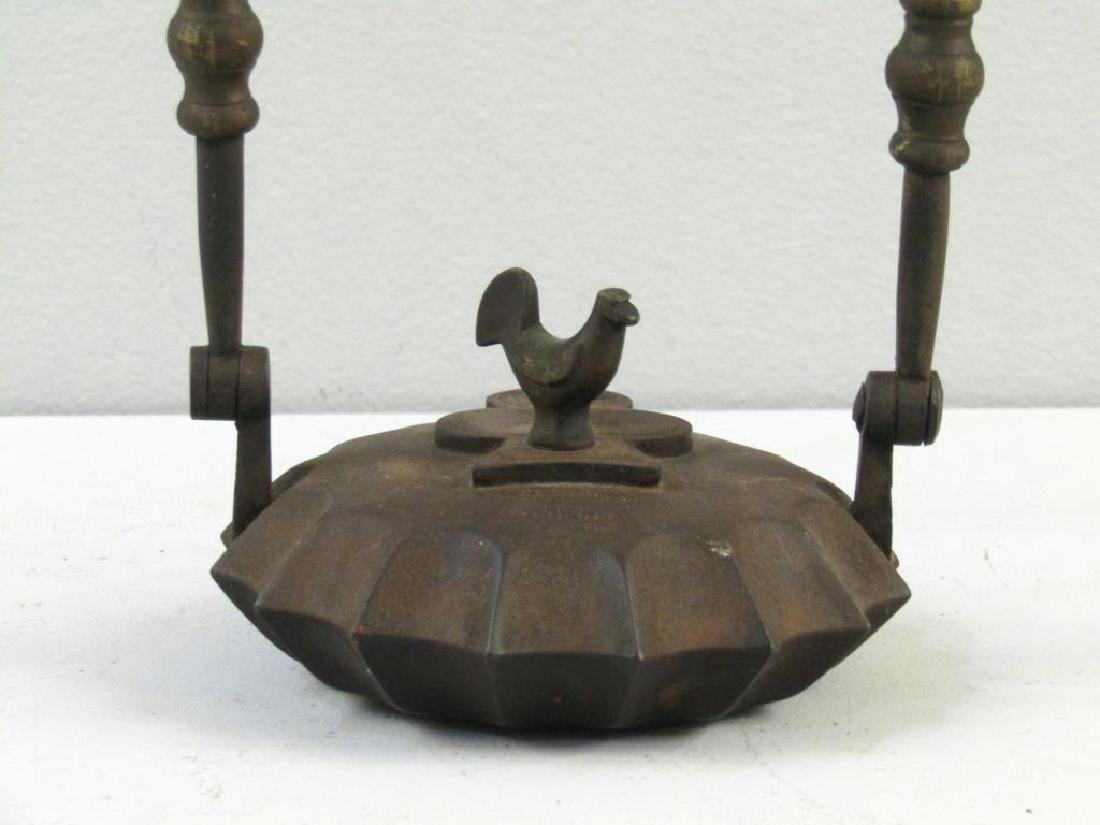 Antique Iron Hanging Oil Lamp - 2