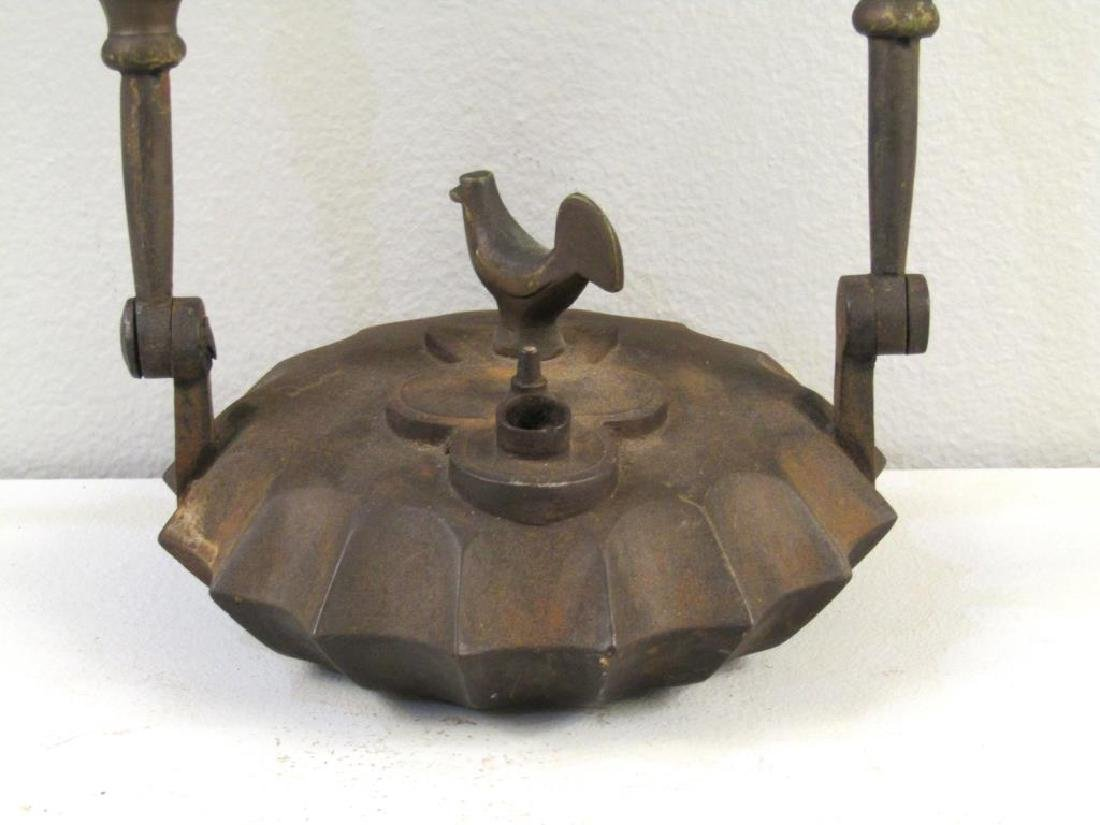 Antique Iron Hanging Oil Lamp - 3