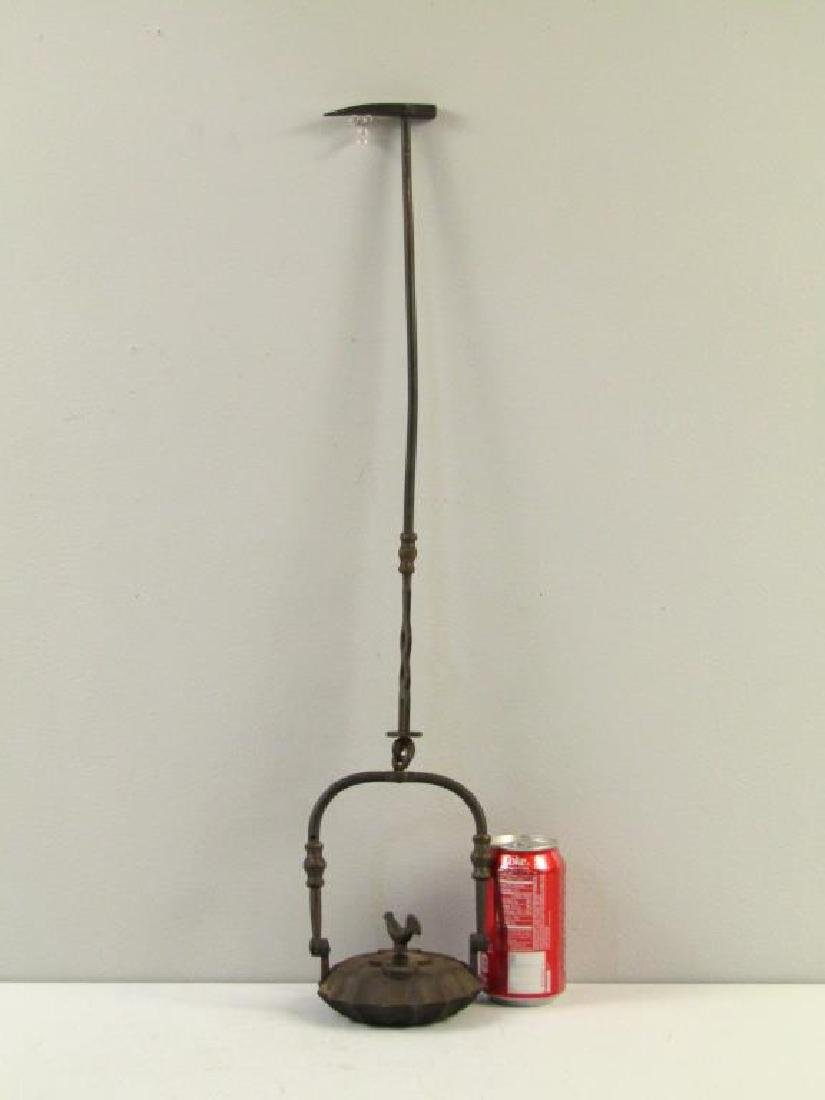 Antique Iron Hanging Oil Lamp - 6