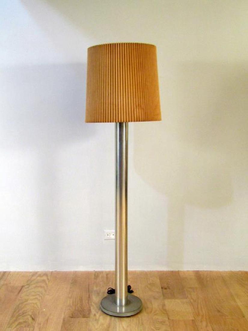 Modern Chrome and Metal Floor Lamp